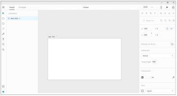 Figure 2 Artboard Screen
